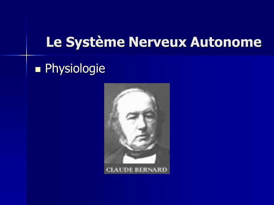 Physiologie Physiologie Le Système Nerveux Autonome