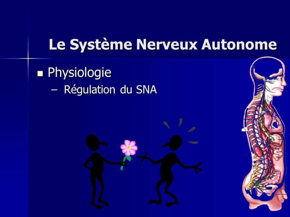 Physiologie Physiologie – Régulation du SNA Le Système Nerveux Autonome