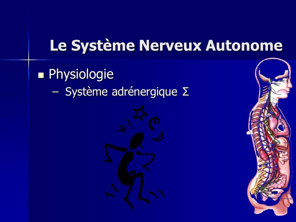 Physiologie Physiologie – Système adrénergique Σ Le Système Nerveux Autonome