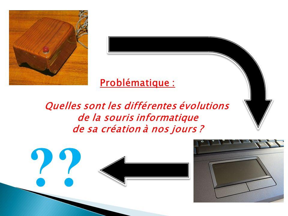 Conclusion - Fonctionnement de la souris boule: codeur incrémental - Connecteurs, clics, curseurs - Evolutions, économie, design et ergonomie - Expériences - Le Futur