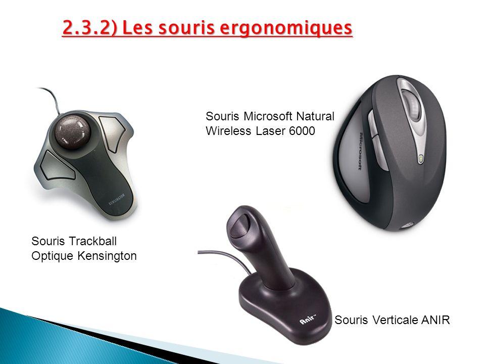 Souris Trackball Optique Kensington Souris Verticale ANIR Souris Microsoft Natural Wireless Laser 6000 2.3.2) Les souris ergonomiques
