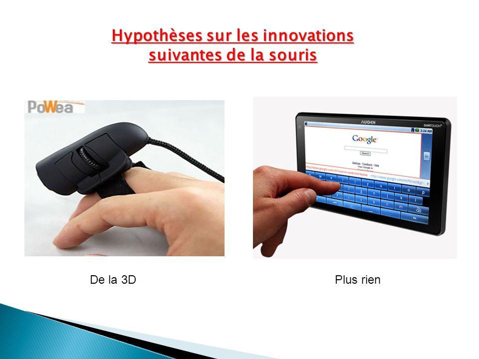 Hypothèses sur les innovations suivantes de la souris De la 3DPlus rien