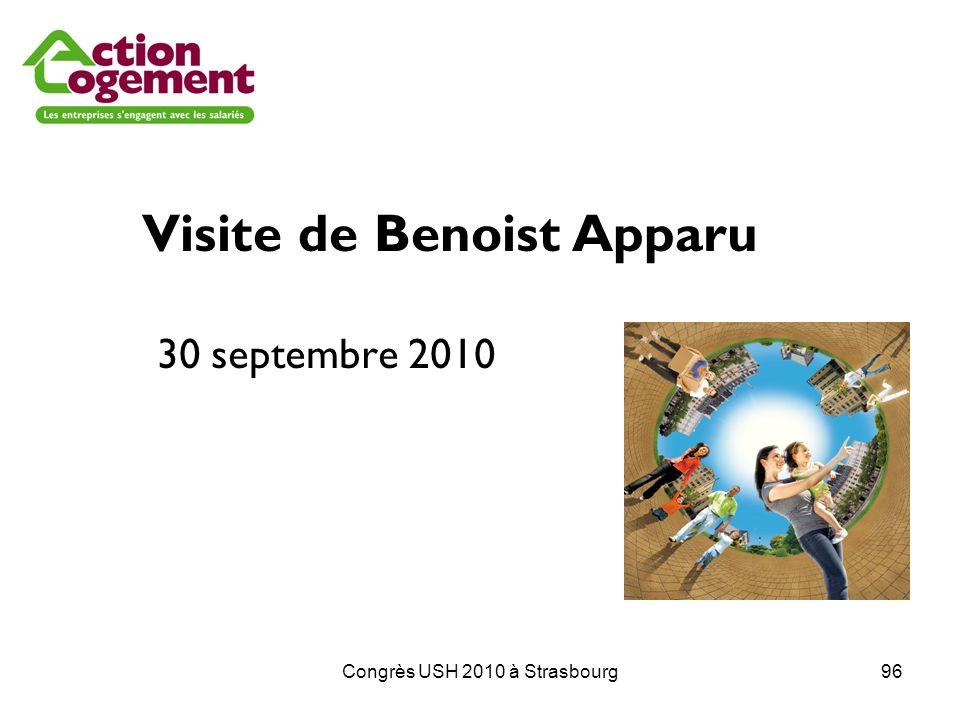 Congrès USH 2010 à Strasbourg96 Visite de Benoist Apparu 30 septembre 2010