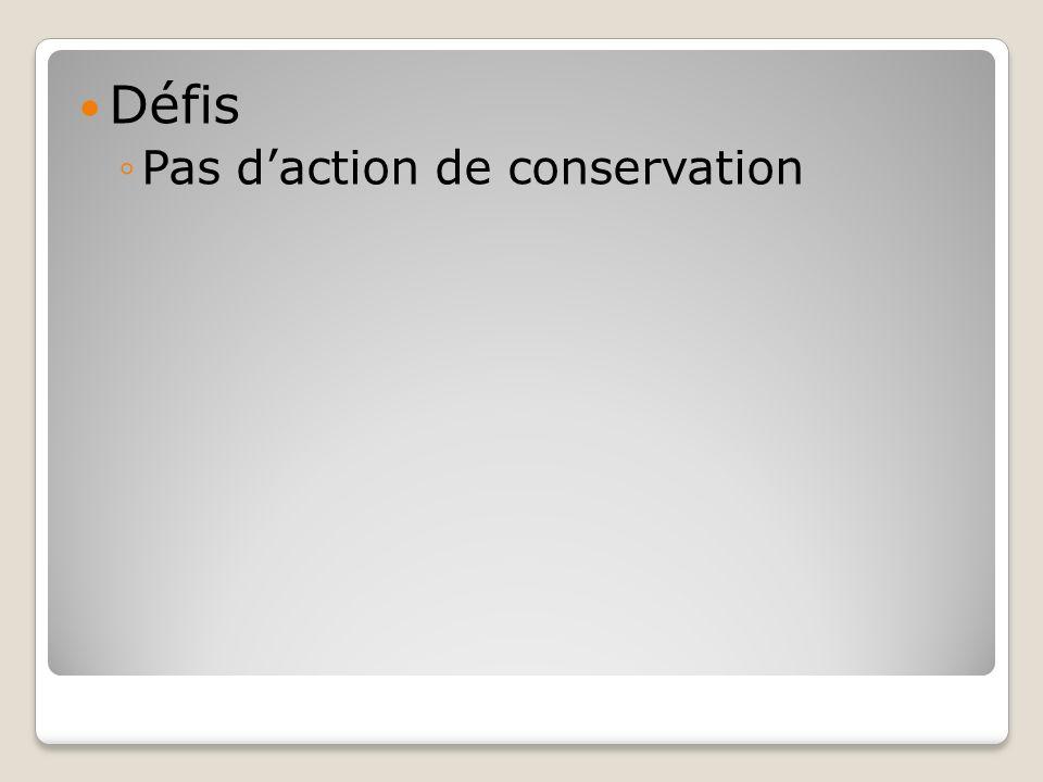 Défis Pas daction de conservation