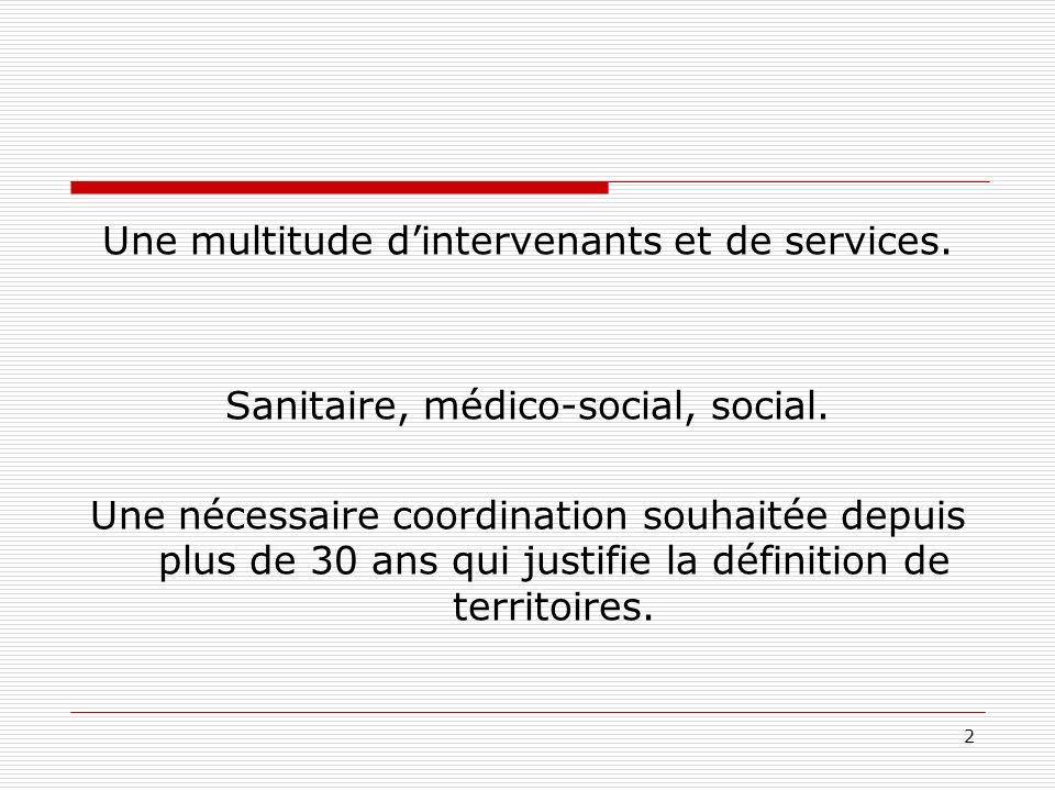 2 Une multitude dintervenants et de services.Sanitaire, médico-social, social.