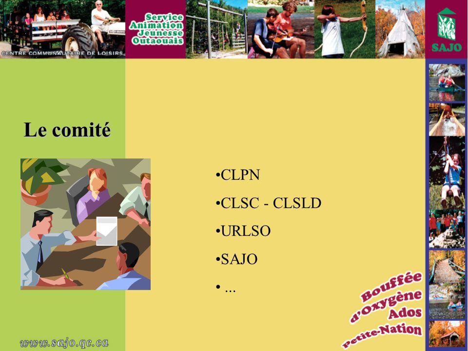 Le comité CLPN CLSC - CLSLD URLSO SAJO...