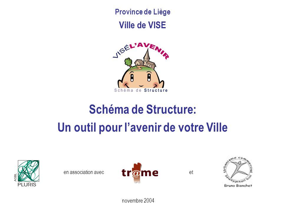 novembre 2004 Schéma de Structure: Un outil pour lavenir de votre Ville en association avecet Province de Liège Ville de VISE