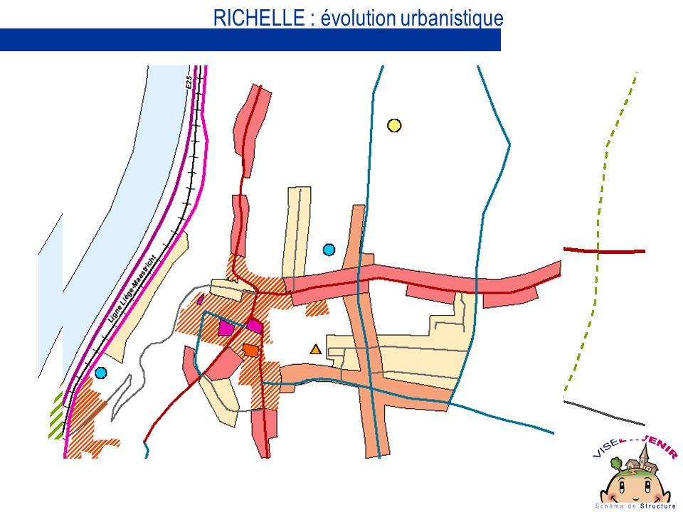 RICHELLE : évolution urbanistique