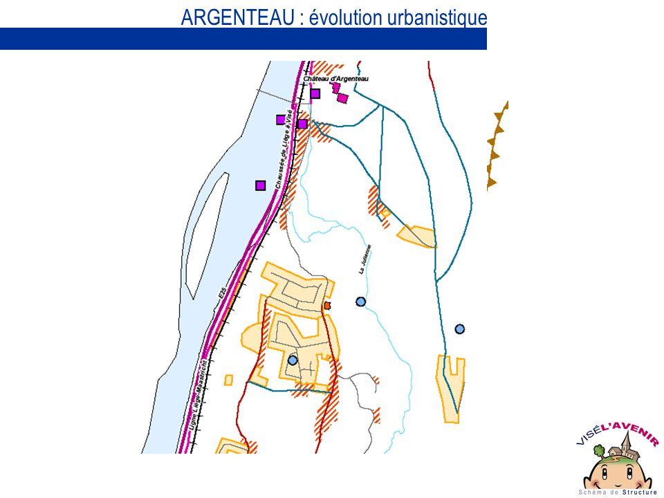 ARGENTEAU : évolution urbanistique