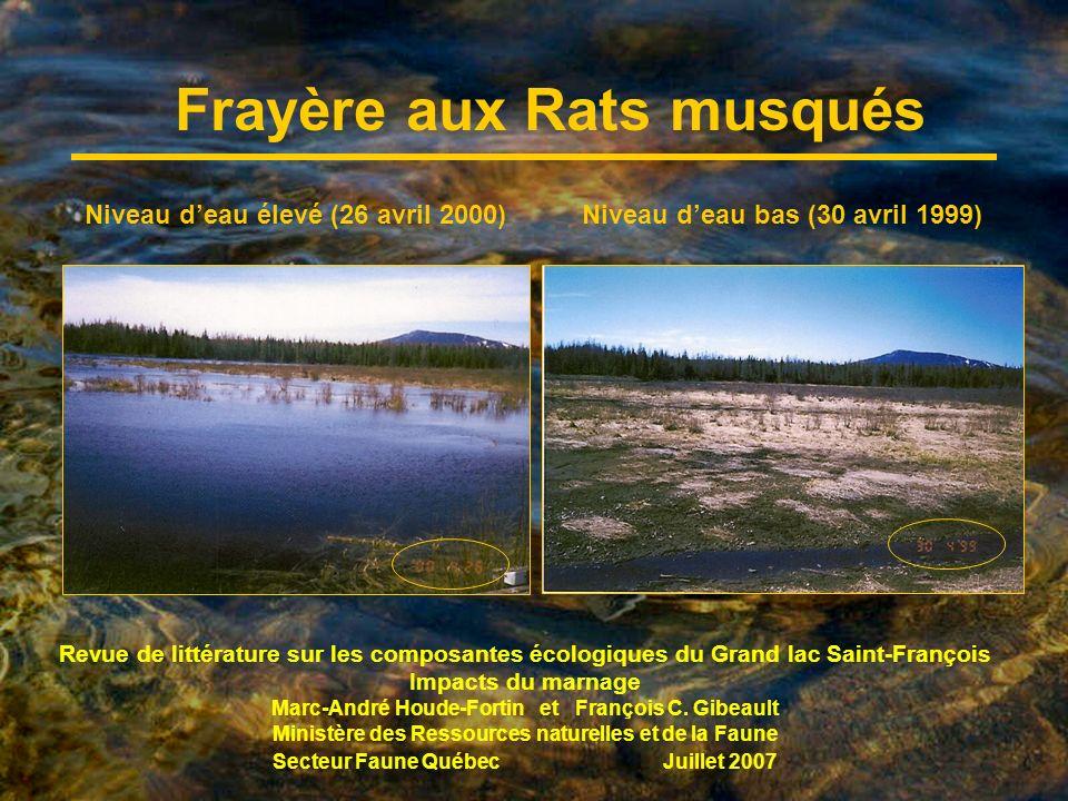 Revue de littérature sur les composantes écologiques du Grand lac Saint-François Impacts du marnage Marc-André Houde-Fortin et François C.