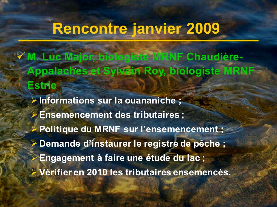 Rencontre janvier 2009 M.