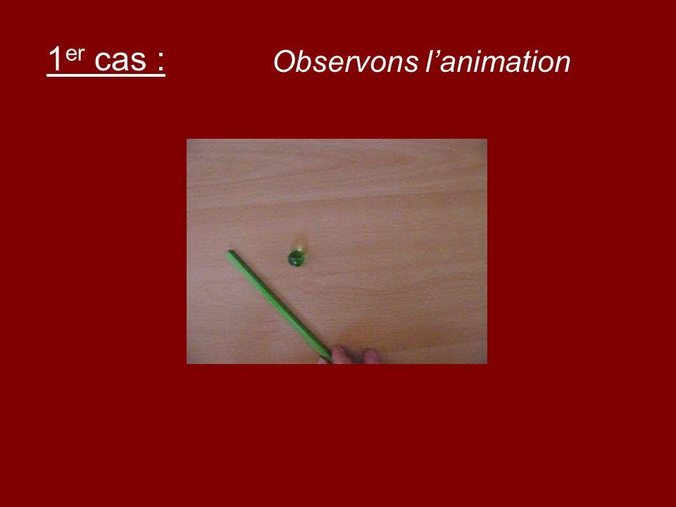 1 er cas : Observons lanimation