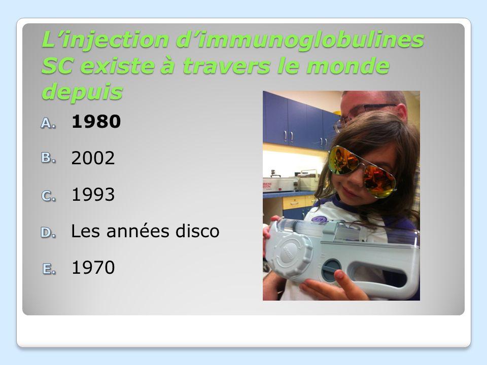 Linjection dimmunoglobulines SC existe à travers le monde depuis 1970 Les années disco 1993 2002 1980