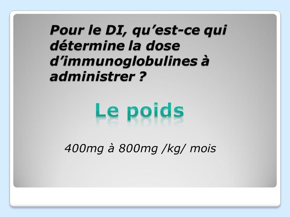 Dans quel(s) cas le traitement par perfusions dIgG serait(ent) souhaitable(s) ? Déficit en anticorps anti-pneumocoque Déficit en complément Hypo IgA H