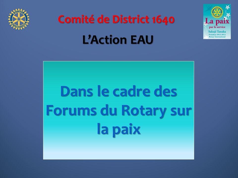 Comité de District 1640 Le 16 juin à Pont-Audemer Témoignages des clubs Une vitrine de lAction des clubs LAssemblée de District