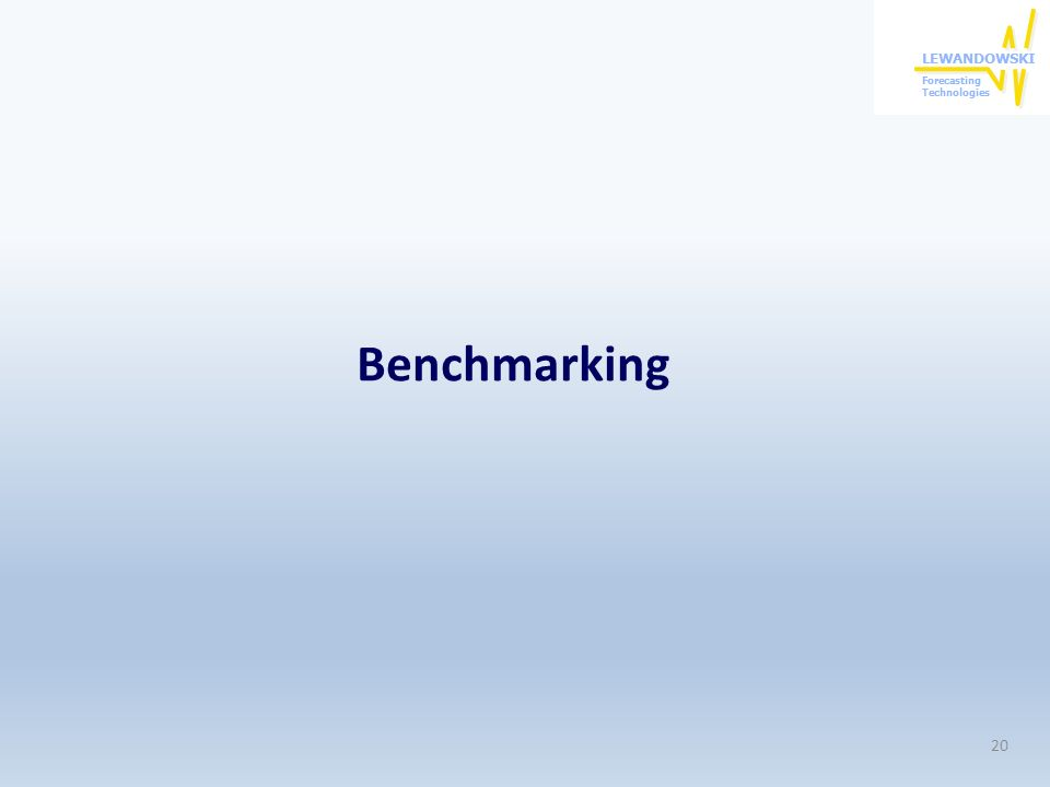 Benchmarking 20