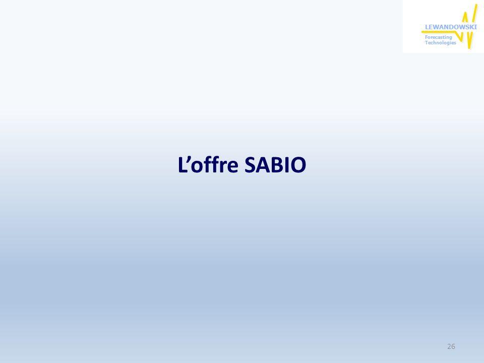 Loffre SABIO 26