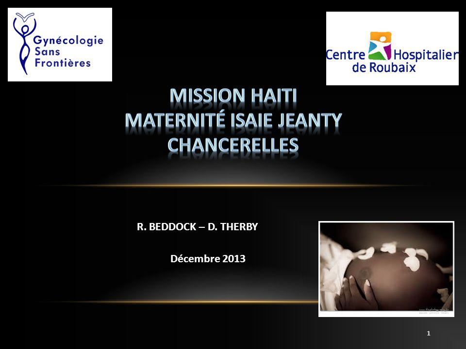 R. BEDDOCK – D. THERBY Décembre 2013 1