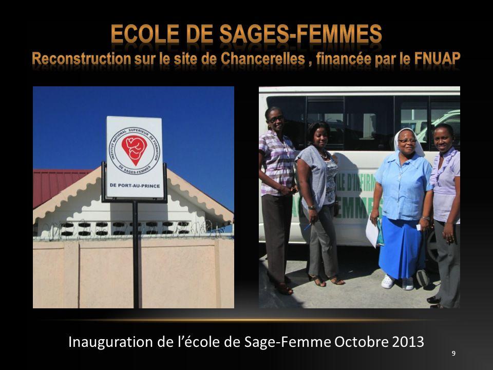 10 En attente de la reconstruction de l école sur lHôpital Universitaire de lEtat dHaitï.
