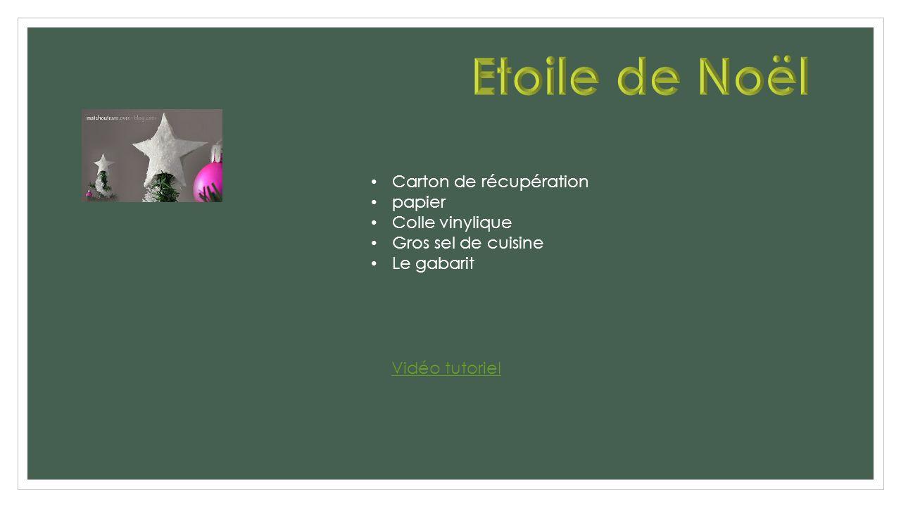 Vidéo tutoriel Carton de récupération papier Colle vinylique Gros sel de cuisine Le gabarit