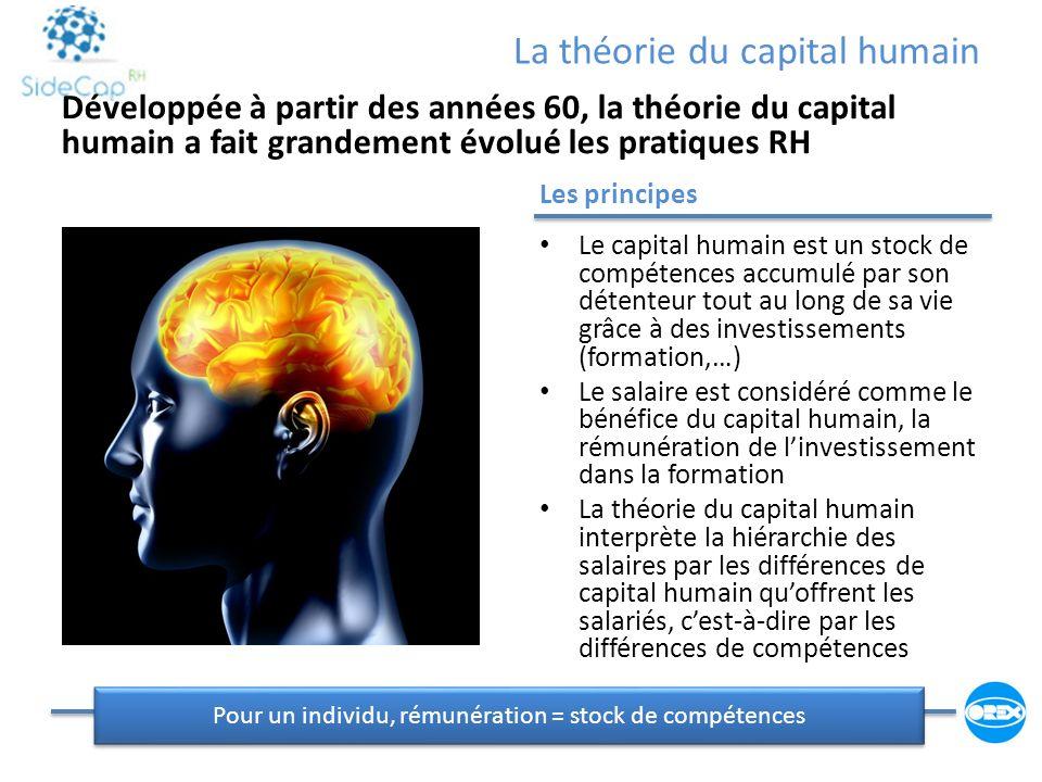 La théorie du capital humain Les principes Le capital humain est un stock de compétences accumulé par son détenteur tout au long de sa vie grâce à des