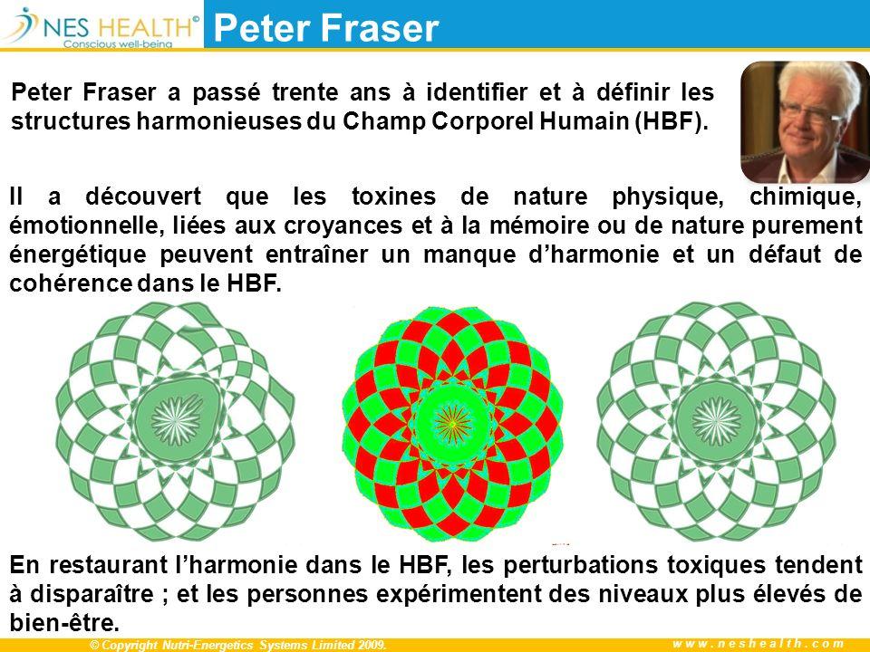© Copyright Nutri-Energetics Systems Limited 2009. www.neshealth.com Peter Fraser Peter Fraser a passé trente ans à identifier et à définir les struct