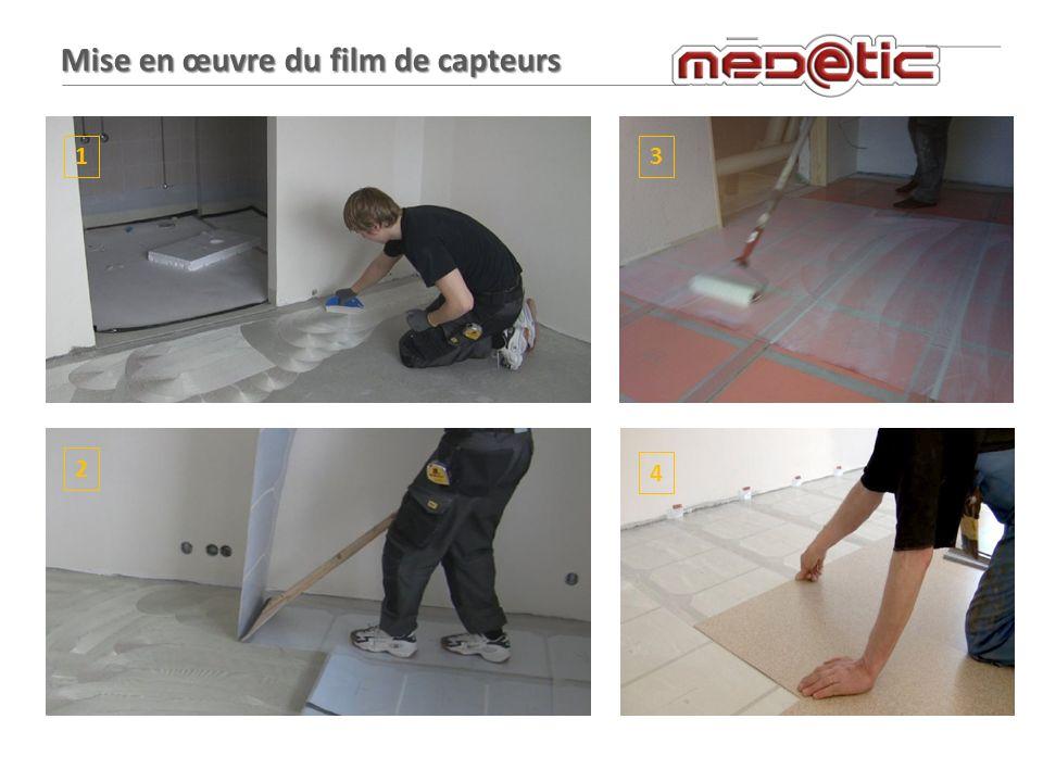 Mise en œuvre du film de capteurs 1 2 3 4