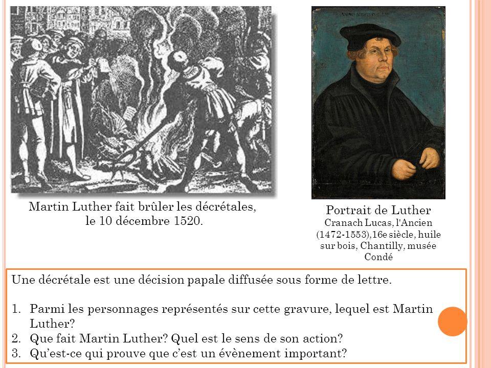 Martin Luther fait brûler les décrétales, le 10 décembre 1520.