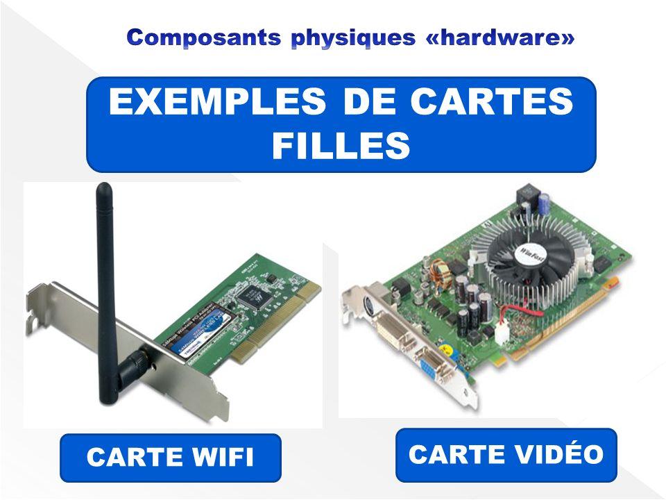 EXEMPLES DE CARTES FILLES CARTE WIFI CARTE VIDÉO