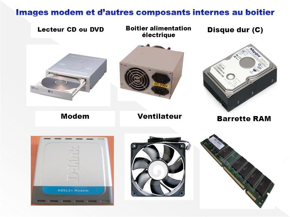 Barrette de RAM Lecteur DVD Modem Lecteur CD ou DVD Barrette RAM ModemVentilateur Boitier alimentation électrique Disque dur (C)