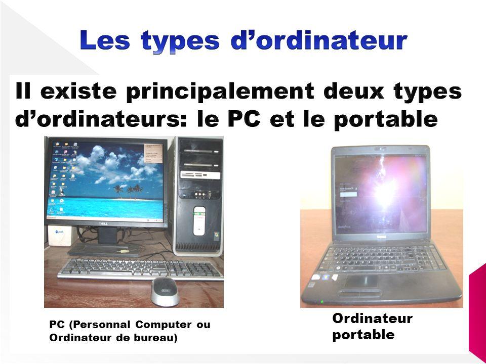 PC (Personnal Computer ou Ordinateur de bureau) Ordinateur portable