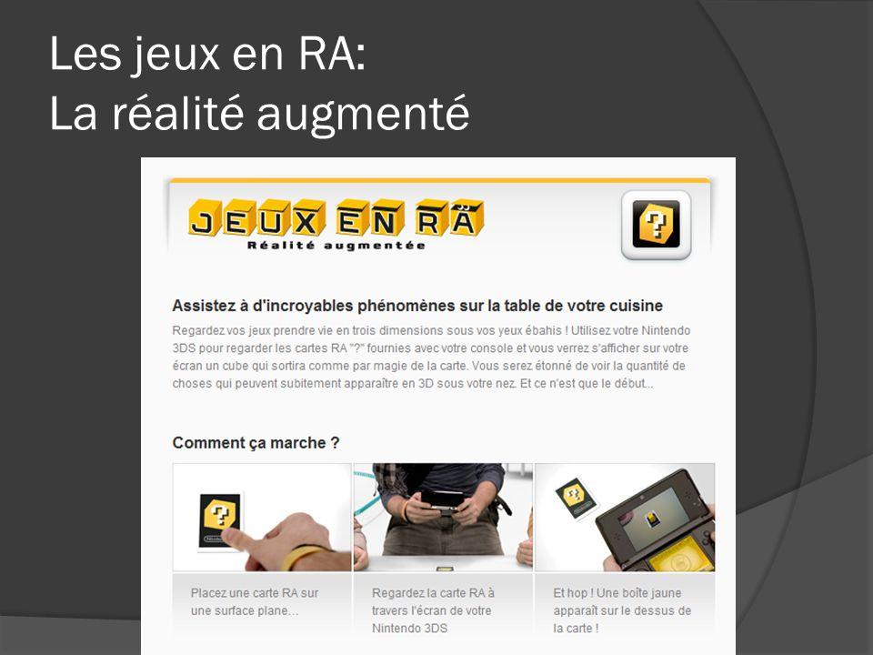 Les jeux en RA: La réalité augmenté
