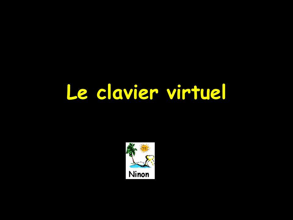 Le clavier virtuel