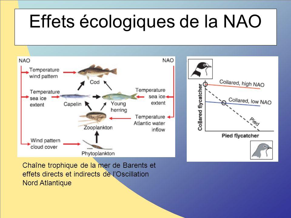 Effets écologiques de la NAO Chaîne trophique de la mer de Barents et effets directs et indirects de lOscillation Nord Atlantique