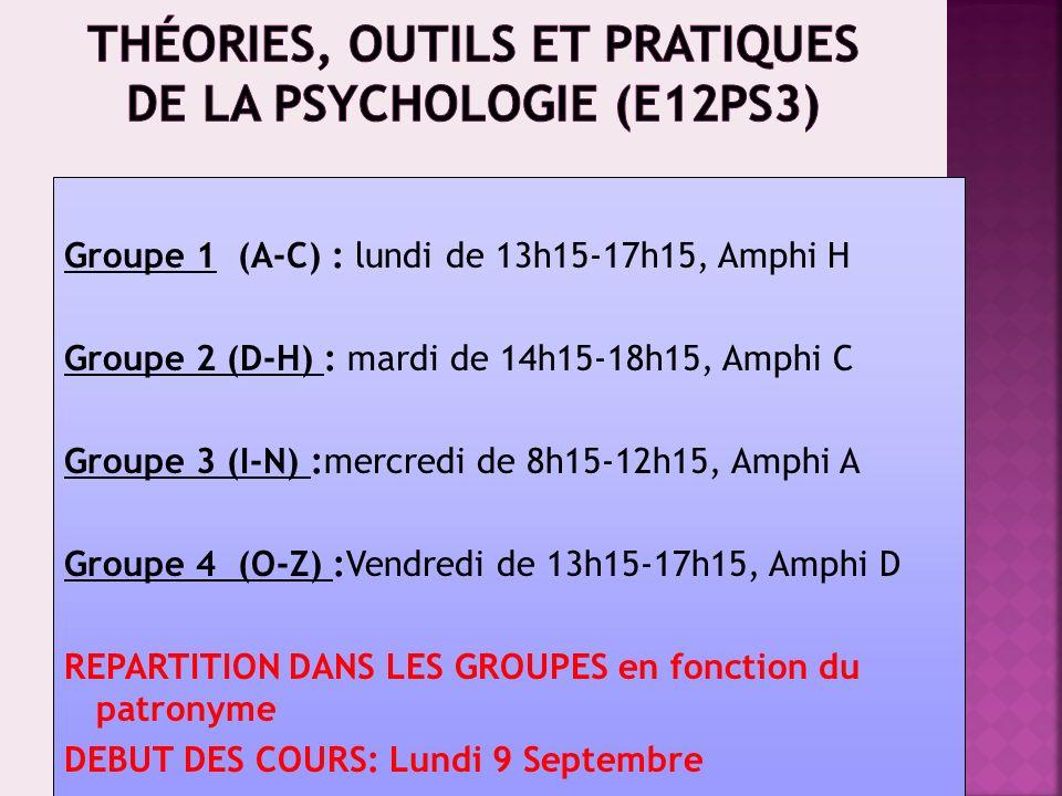 12 séances de 3h une fois par semaine Début des cours Lundi 9 septembre Choisir le jour et lheure de votre td en sinscrivant sur le site : http://www.univ-montp3.fr/ufr5/L1TD/ Responsable des enseignements : P.