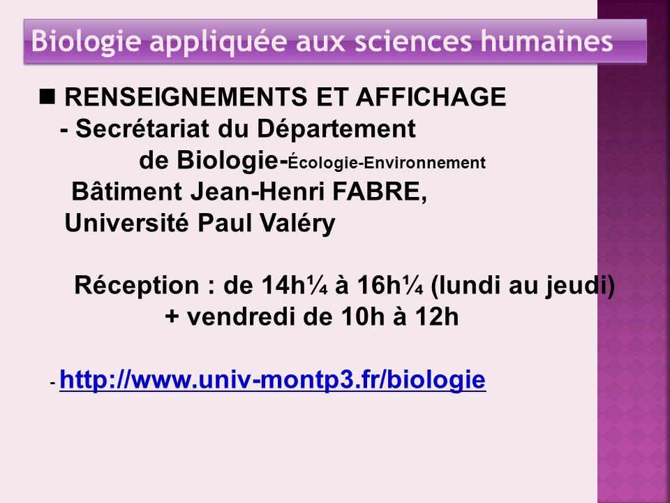 Université Paul Valéry UFR V Amphi B Amphi A Amphi E Département de Biologie - Ecologie - Environnement