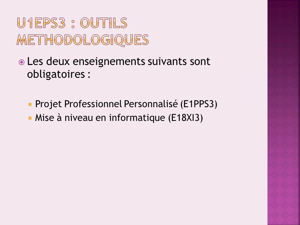 E1PPS3 : Projets Professionnels et Personnels + Professeurs Référents Responsable : C.