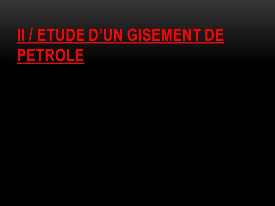 II / ETUDE DUN GISEMENT DE PETROLE