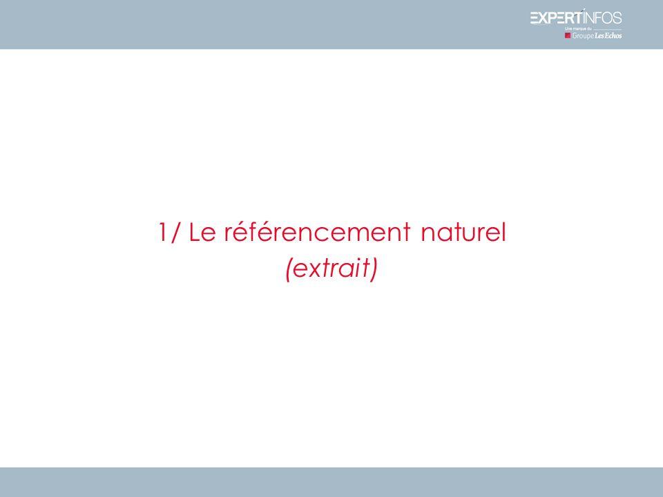 1/ Le référencement naturel (extrait)