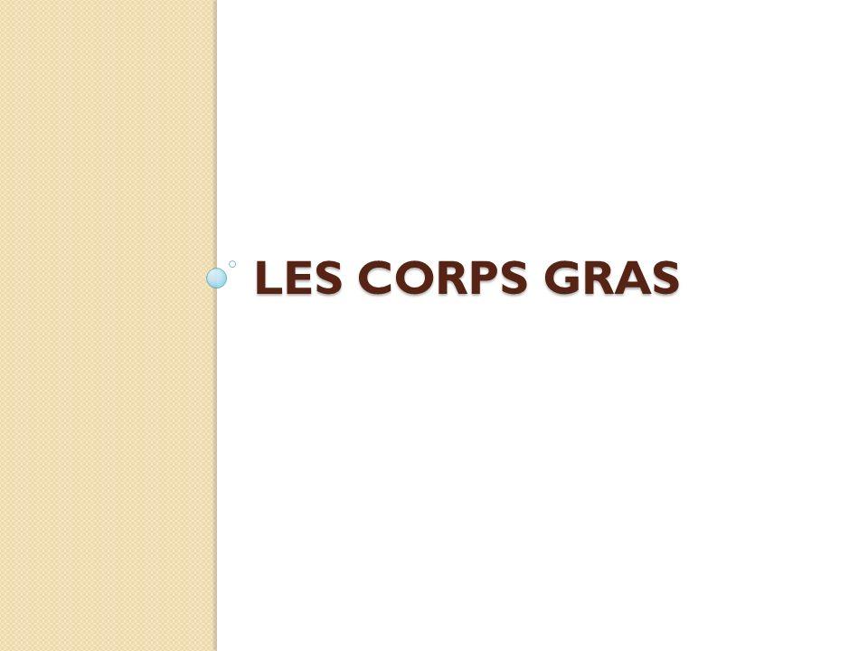 LES CORPS GRAS