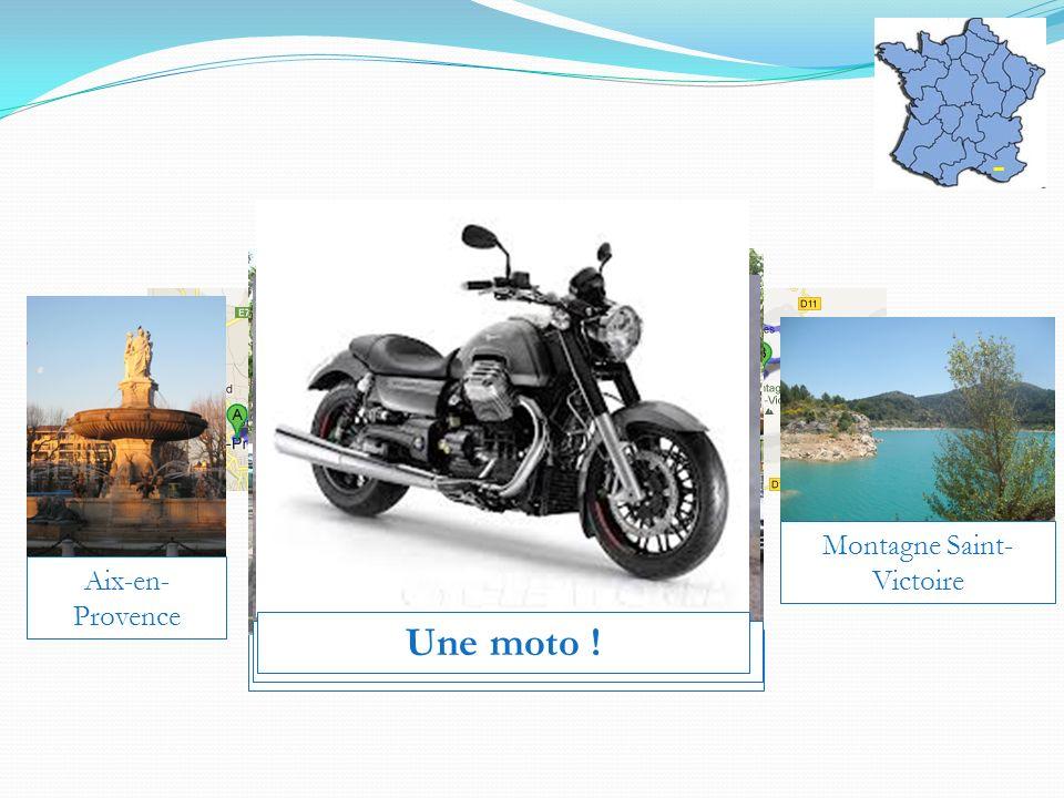 Aix-en-Provence Une mobylette ! La Rotonde (centre-ville) La Cathédrale Un vélo !