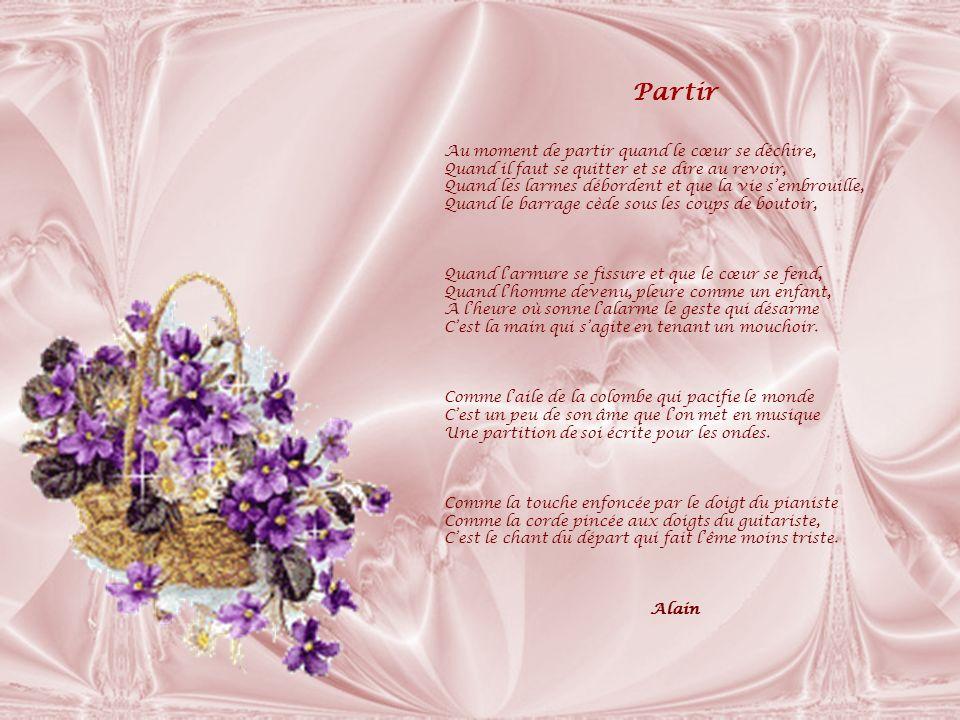 Pouvoir Pourvoir encore rêver, Quand les jours sont trop sombres, De joyeux papillons, de fleurs et de clarté .