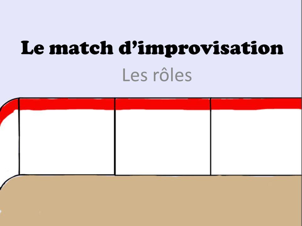 Le match dimprovisation Les rôles