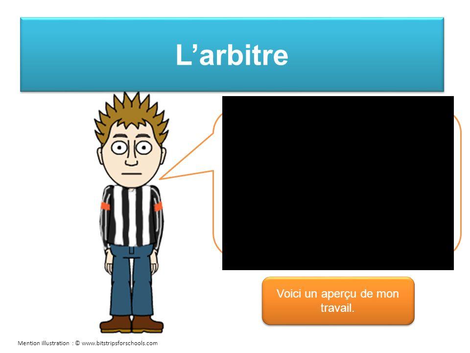 Larbitre Cest moi qui mène le jeu en appelant les jeux sur un carton thème.