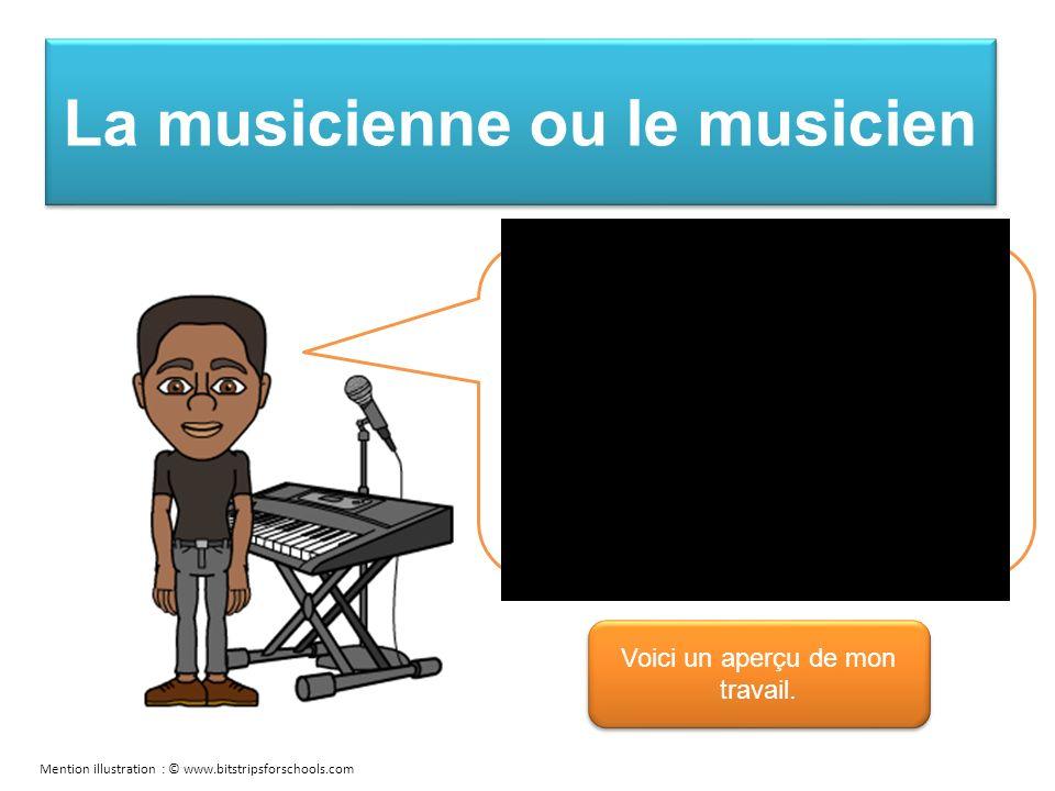 La musicienne ou le musicien Je meuble les moments dattente, tels les caucus, de musique entraînante.