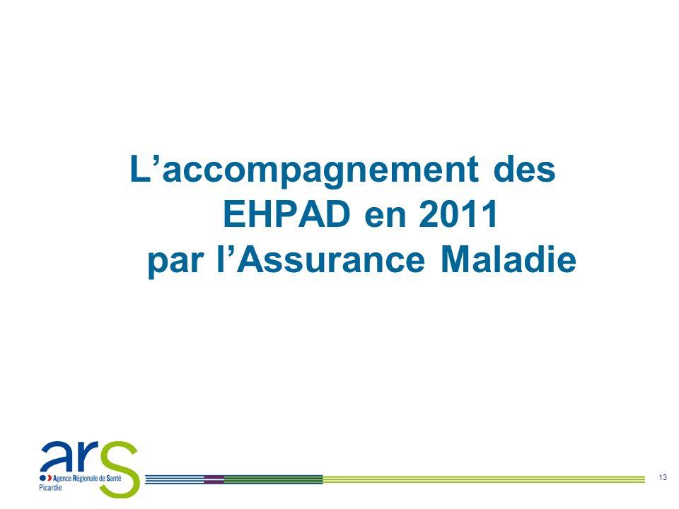 13 Laccompagnement des EHPAD en 2011 par lAssurance Maladie