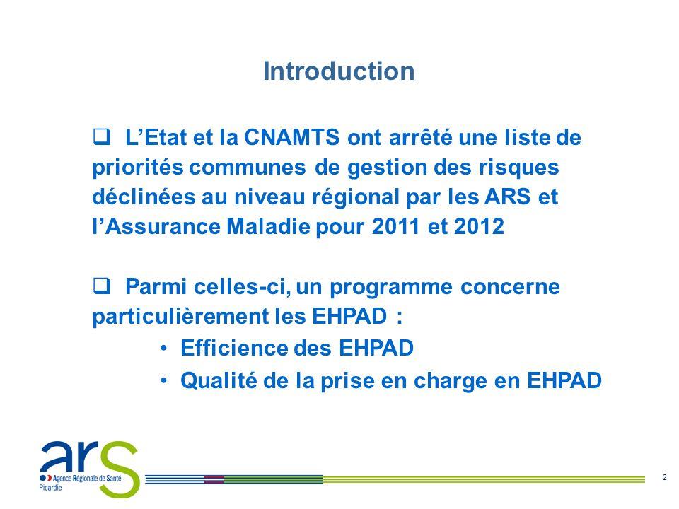 2 Introduction LEtat et la CNAMTS ont arrêté une liste de priorités communes de gestion des risques déclinées au niveau régional par les ARS et lAssur