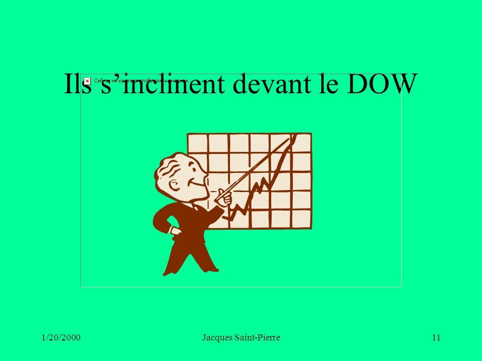 1/20/2000Jacques Saint-Pierre11 Ils sinclinent devant le DOW