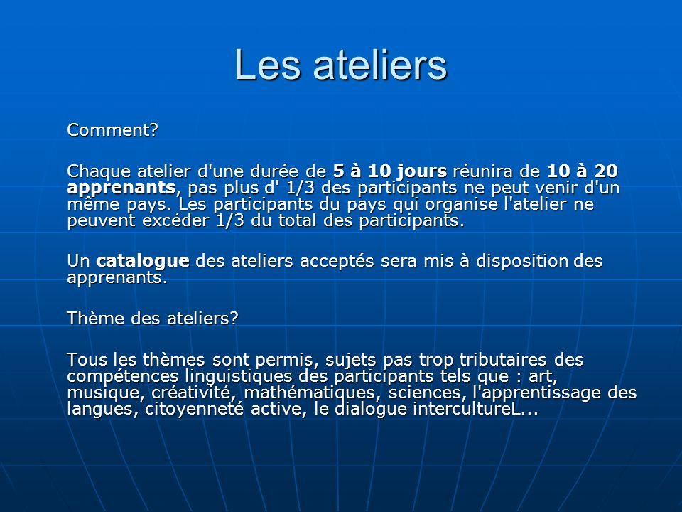 Les ateliers Comment.