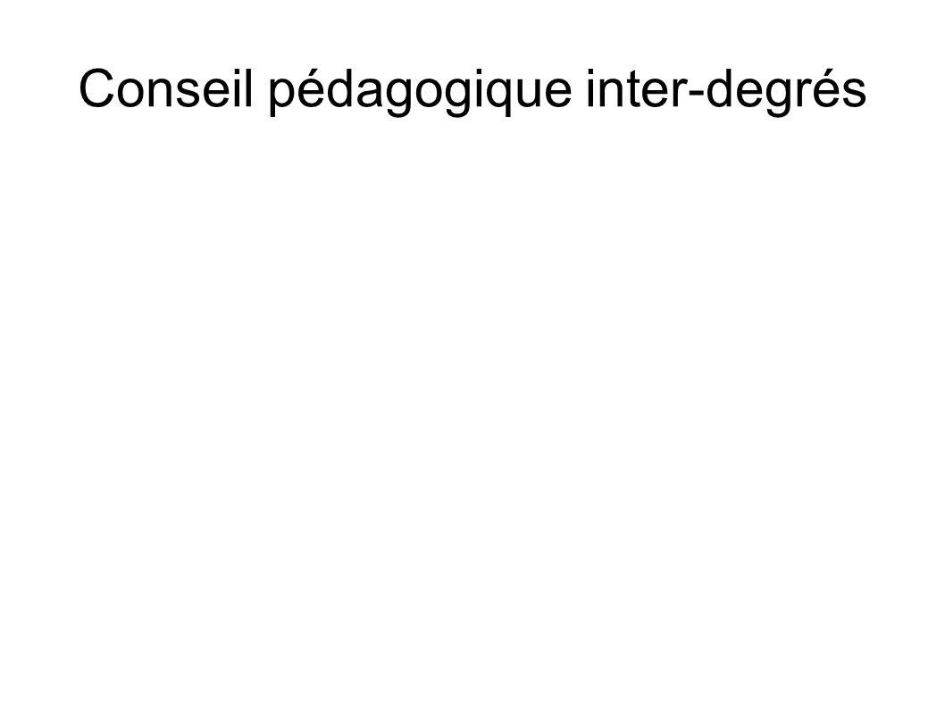 Conseil pédagogique inter-degrés